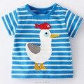 18 M ~ 6 T Nuevo 2017 de Algodón de Calidad Marca Baby Boys Ropa de Verano Niños Toddler Kids Ropa Tee camisetas camisetas Niños