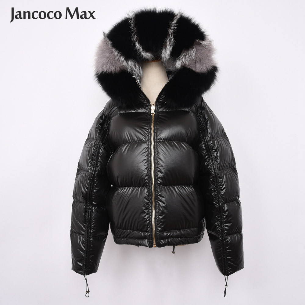 New Arrival Women Real Fox Fur Collar Jacket High Quality White Duck   Down     Coat   Fashion Style Oversize   Coat   S7482
