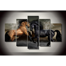 5 Pieces/set Print horse painting modern home decor wall art canvas picture for living room print Painting on