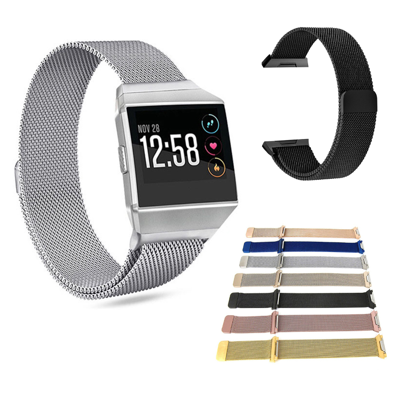 Wristband Magnet-Strap Smart-Watch-Band Fitbit Ionic Replace Correa Metal Stainless-Steel