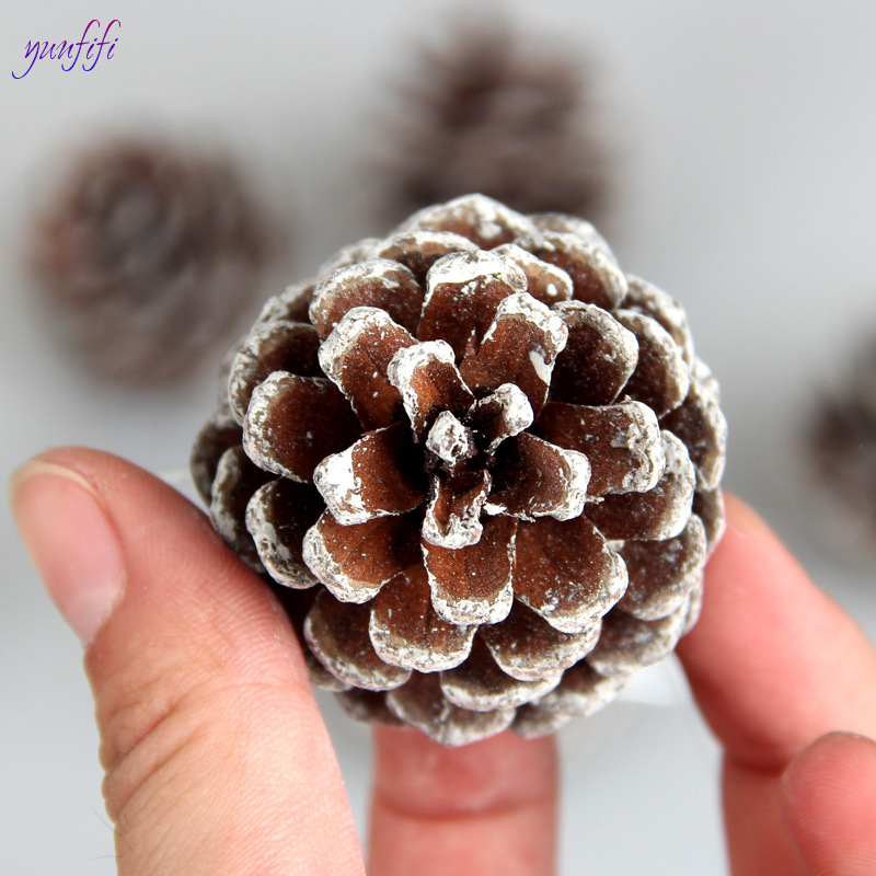 6pcs Christmas Decoration Pine Cones Pinecone Xmas New Year Holiday Party Decoration Ornament For Home Supplies christmas tree