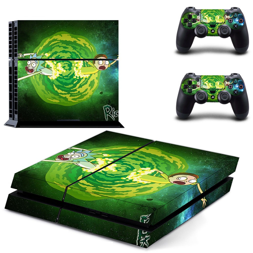 Rick And Morty Ps4 Skin For Playstation 4 Console And Controllers Faceplates, Decals & Stickers