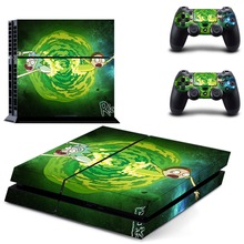 Rick and Morty Decal PS4 Skin Sticker For Sony Playstation 4 Console +2Pcs Controllers 15 patterns