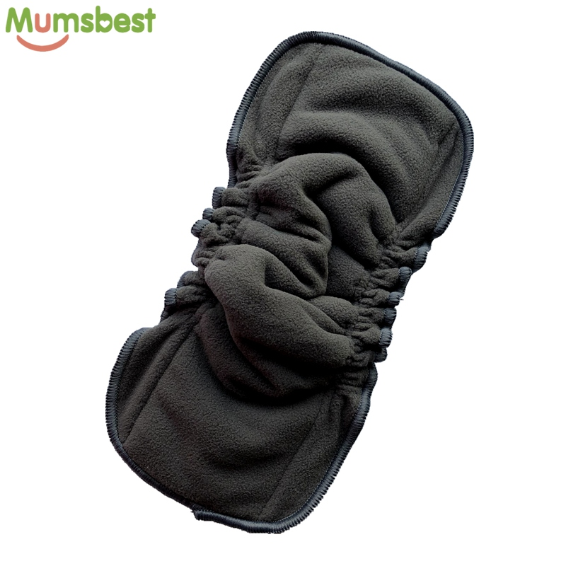 [Mumsbest] 1Pc 5 Layers Baby Cloth Diaper Mat Nappy Inserts Reusable Bamboo Charcoal No Leaking Double Gussets Changing Liners