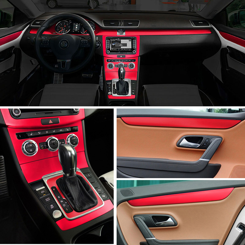 For Volkswagen VW CC/Passat B7 Interior Central Control Panel Door Handle Carbon Fiber Stickers Decals Car styling Accessorie