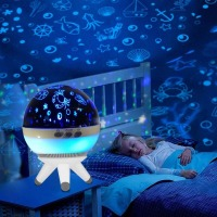 Christmas Romantic Rotating Spin Night Light Projector Remote Control Children Kids Baby Sleep Lighting Sky Star Master Lamp