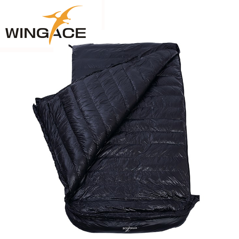 WINGACE Spring And Autumn Camping Down Sleeping Bag Adult Portable Fill 1500g Duck Down Outdoor Double Sleeping Bag Light weight in Sleeping Bags from Sports Entertainment