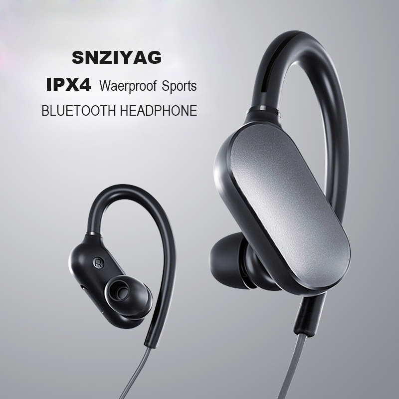 SNZIYAG LY-18 Sports IPX4 Waterproof Wireless Bluetooth Earphone Stereo Earbuds Running Headset with Mic For Xiaomi Earphones wired earphone with mic dual drive gaming headset stereo bass music earphones inear running sports earbuds for iphone for xiaomi