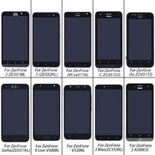 ASUS เดิมหน้าจอ LCD จอแสดงผล Touch ซ่อมหน้าจอสำหรับ ASUS ZenFone 2 ZE551ML Go ZC451TG V520KL AR zs571kl Selfie
