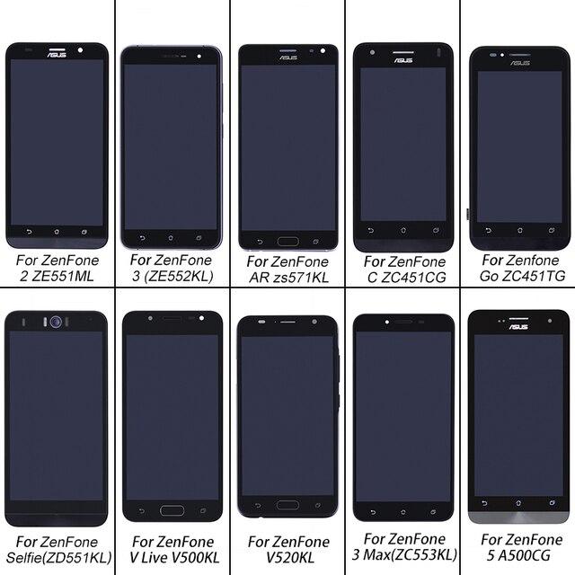 ASUS Orijinal Ekran dokunmatik LCD ekran ekran montaj Onarım ASUS ZenFone 2 Için ZE551ML Gitmek ZC451TG V520KL AR zs571kl Selfie