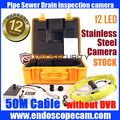 "50M 7"" LCD Video Inspection Camera Borescope Endoscope Snake Pipe camera system"