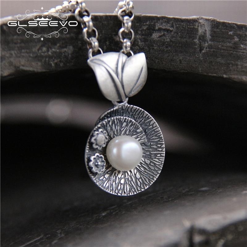 GLSAEEVO Чистий срібний Vintage Етнічний Pearl - Вишукані прикраси