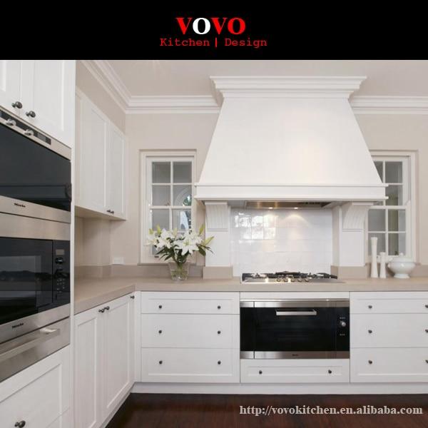 Muebles modernos de lujo de laca blanca americana en Gabinetes de ...