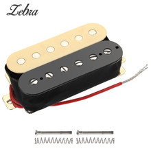 Zebra 2Pcs/Set Alnico Double Coil Electric Guitar Pickups Humbucker Neck Bridge Pickup For Guitarra Musical Instruments Parts