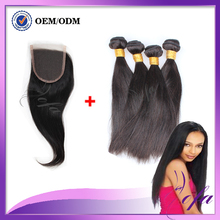 Russian Virgin Hair 4 Bundles Straight Hair Soft Russian Straight Human Hair Bundles Hair Bundles With Lace Closures