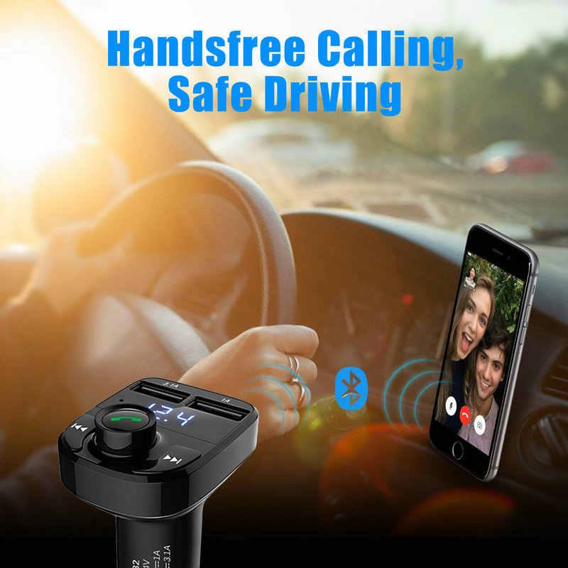 Kép USB Car Charger Bluetooth Car Kit LCD Hiển Thị Âm Nhạc Máy Nghe Nhạc FM Transmitter Đài Phát Thanh Gọi Điện Thoại Rảnh Tay Bằng Giọng Nói Nhanh Chóng TF Thẻ ỨNG DỤNG