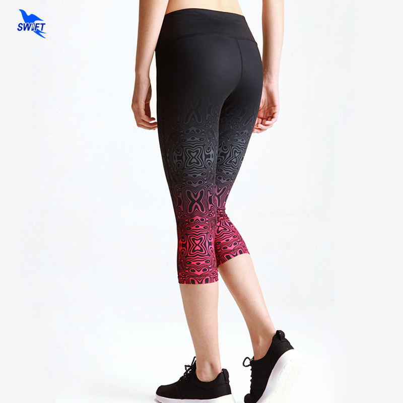 Capri Pants Women Leggings Fitness Workout Sport 3/4 Yoga Pants Running Tights Jogging Trousers Skinny Stretch Calf-length Pants summer women stretch slim pencil pants full length sexy ripped hole skinny high waist trousers plus size pantalon femme page 6