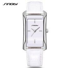 SINOBI Reloj Mujer Montre Femme 2017 Brand Quartz Watches Women Clock Square Leather Bracelet Casual Fashion Watch Ladies F34
