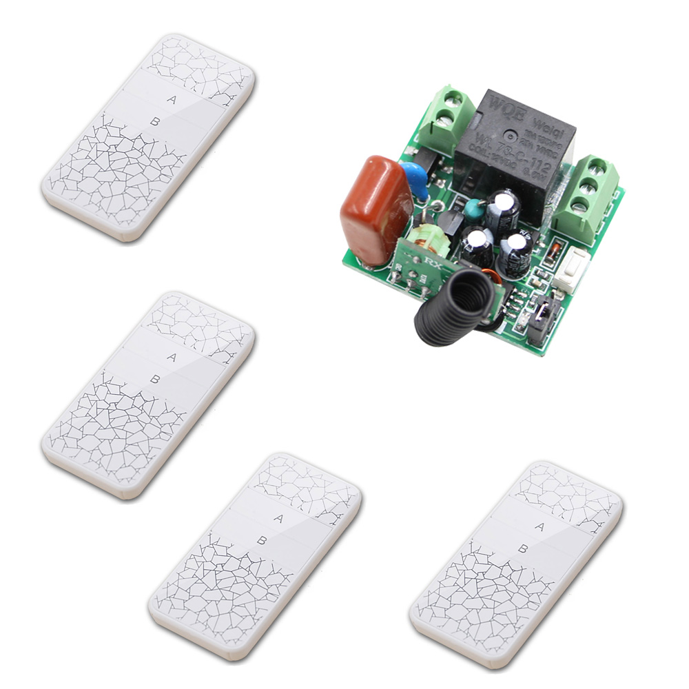 AC 220V 1 CH 1CH RF Wireless Remote Control Switch System Radio Controller Receiver + Transmitter Toggle Momentary Latched new rf wireless switch wireless remote control system 2transmitter 12receiver 1ch toggle momentary latched learning code 315 433