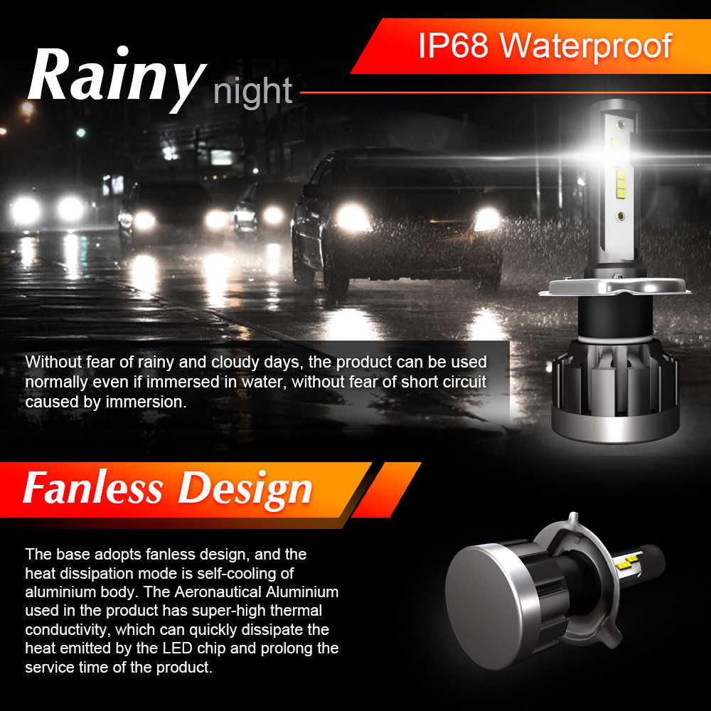 2Pcs H7 LED Mini Car Headlight Bulb 12000LM 72W CSP Chip Super Bright H1 H4 H11 HB3 HB4 9005 9006 Led Auto Lights 12V 24V 6000K