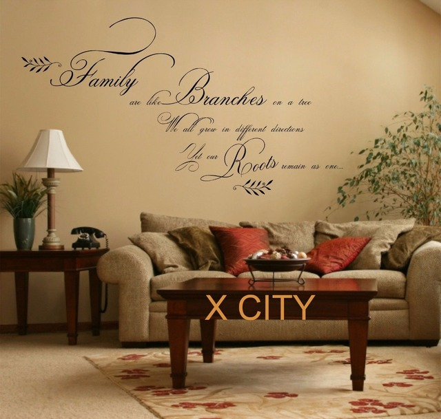 Large Family Quote WORDS WALL ART STICKER REMOVABLE MURAL VINYL ...