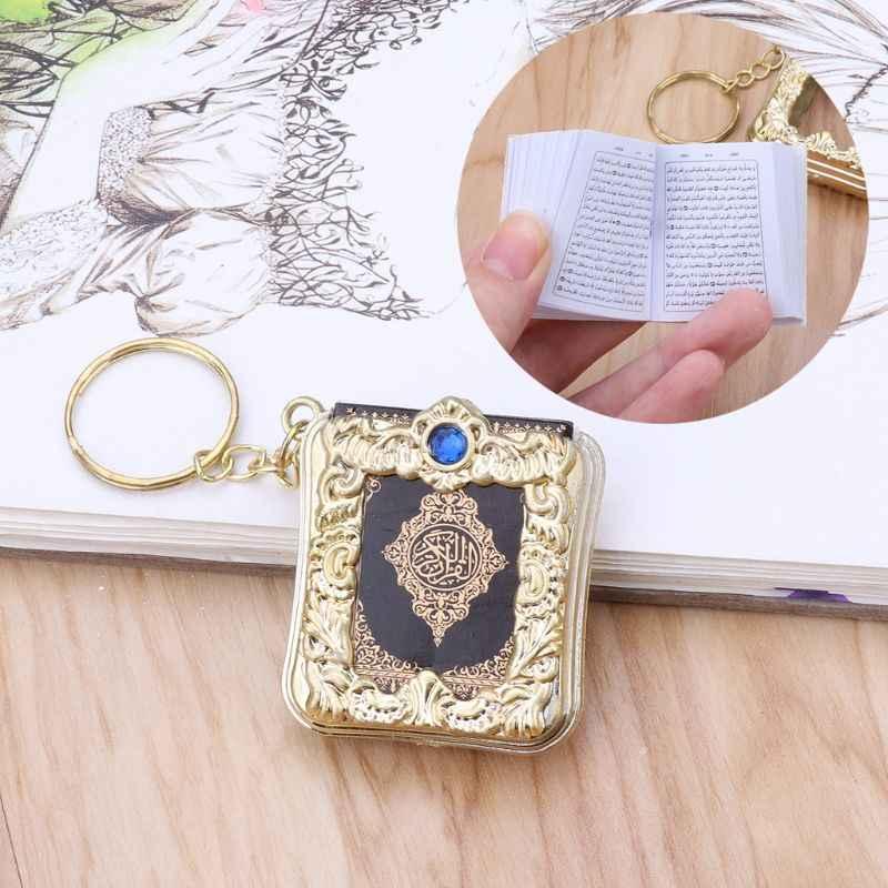 JACRICK 1 шт. мини-ковчег Коран настоящая бумага может читать Арабский Корейский стиль брелок мусульманские украшения для deacoration свадебный подарок