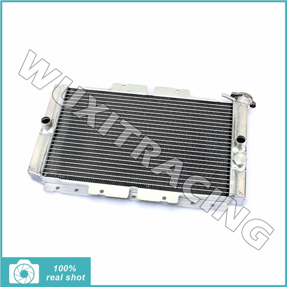 все цены на  Aluminium Core Motorcycle ATV Quad Dirt Bike Radiator Cooling fit for YAMAHA Rhino 450 2006-2009 2008 Rhino 660 2004-2007 2005  онлайн