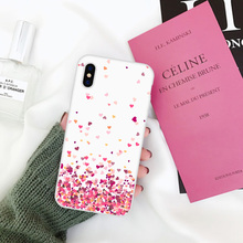 LAUGH LIFE Phone Case For iPhone SE Fashion Summer Green Leaf Painted TPU Cases Back Cover Hot Sale Pink Love Heart Shell Gift