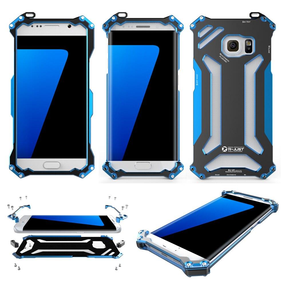 bilder für R-JUST Gundam Stoßfest Außen Aluminium Metall Compact Rüstung Fall-abdeckung Marke Shell für Samsung Galaxy S7 & S7 Rand ORIGINAL