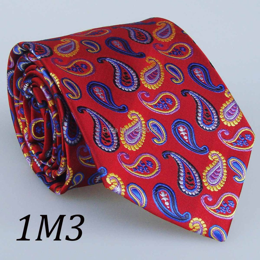 Red Paisley Ties 1M3+++