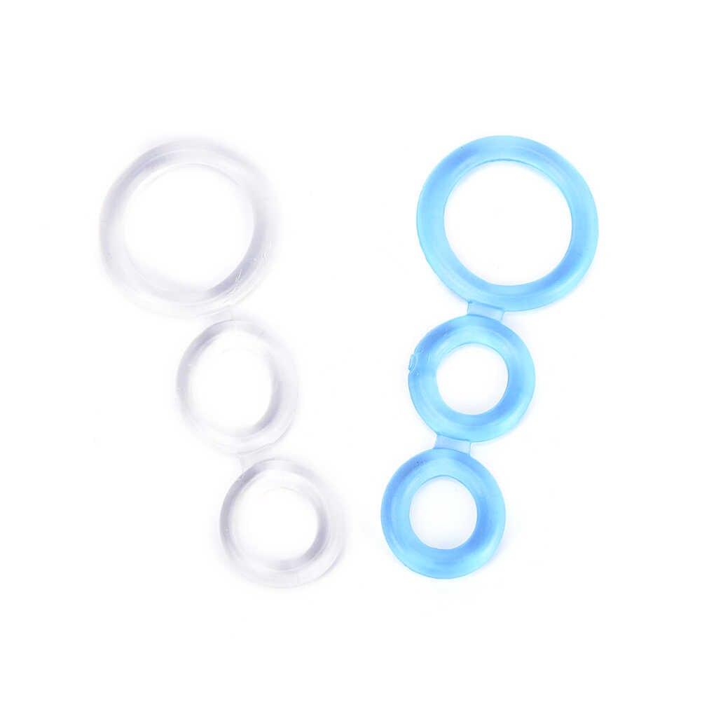 Высокая эластичность тренажер пенис кольца 3 кольца петух кольца время задержки эякуляции секс-игрушки для мужчин TPE товары для взрослых