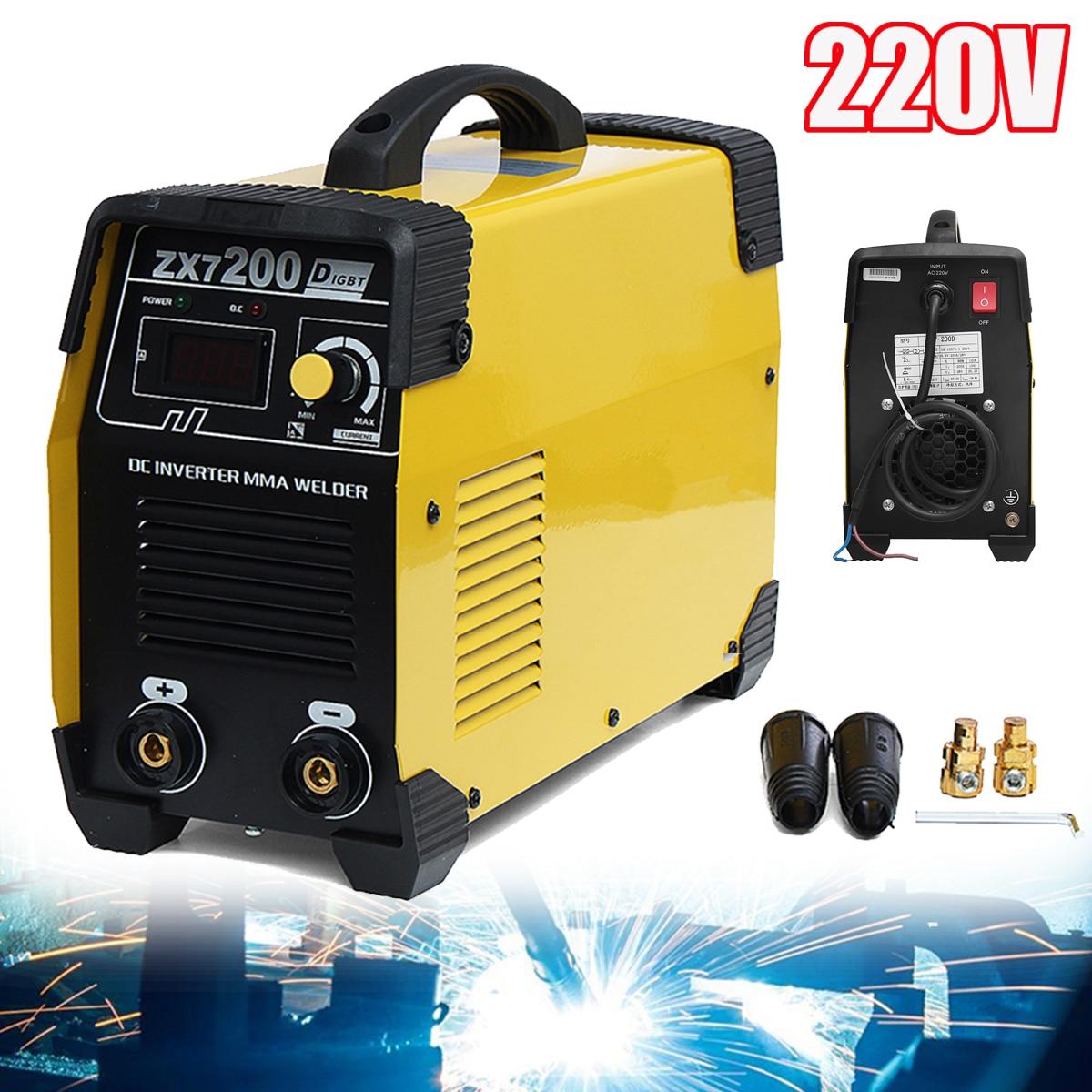 220v Zx7-200 Dc Inverter Welding Equipment Portable Welder Machine U Cnc, Metalworking & Manufacturing Business & Industrial