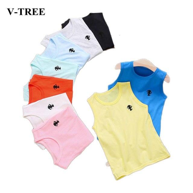 78b8614e7 Verano niños camiseta Tops de dibujos animados para los niños niñas de  algodón ropa interior 2