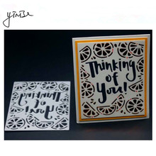 YINISE Metal Cutting Dies For Scrapbooking Stencils Love Word Cut SCRAPBOOK DIY Album Cards Decoration Embossing Folder Die Cuts