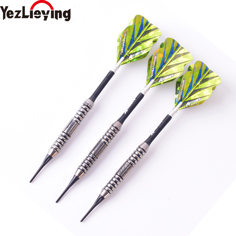 3PCS/Set Green Professional Darts 20g Safty Soft Darts Electronic Soft Tip Dardos For Indoor Electronic Darts Dartboard Games