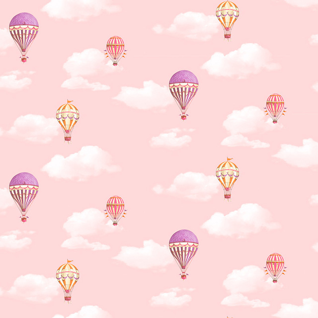Us 28 47 27 Off Beibehang Green Blue Sky White Clouds Simple Children S Room Cute Cartoon Wallpaper Hot Air Balloon Bedroom Background Wall In