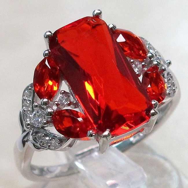 925 Стерлинговое Серебро Циркон закрытие кольцо женский натуральный красный циркон Циркон кладка красный камень циркон ювелирные изделия перидот