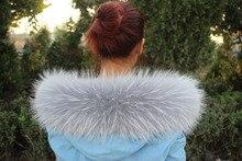 76X16CM 100% असली असली प्राकृतिक रेकून फर कॉलर महिला स्कार्फ फैशन कोट स्वेटर जैकेट हुडी स्कार्फ लक्जरी गर्दन कैप आर 6