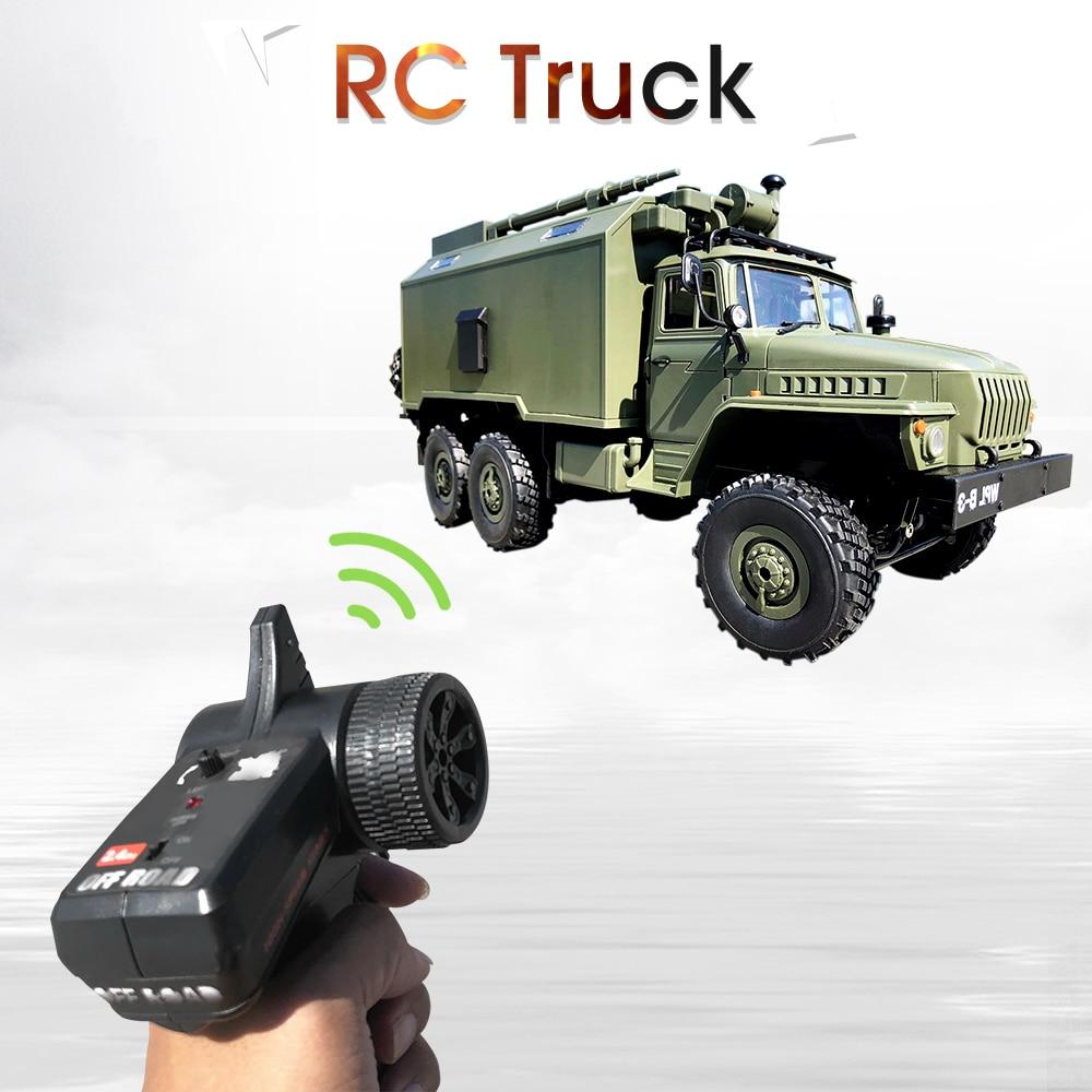 WPL RC camión B36 Ural 1/16 2,4G 6WD de Control remoto Camión Militar Rock Crawler coche Hobby juguetes para niños carro eletrico - 5