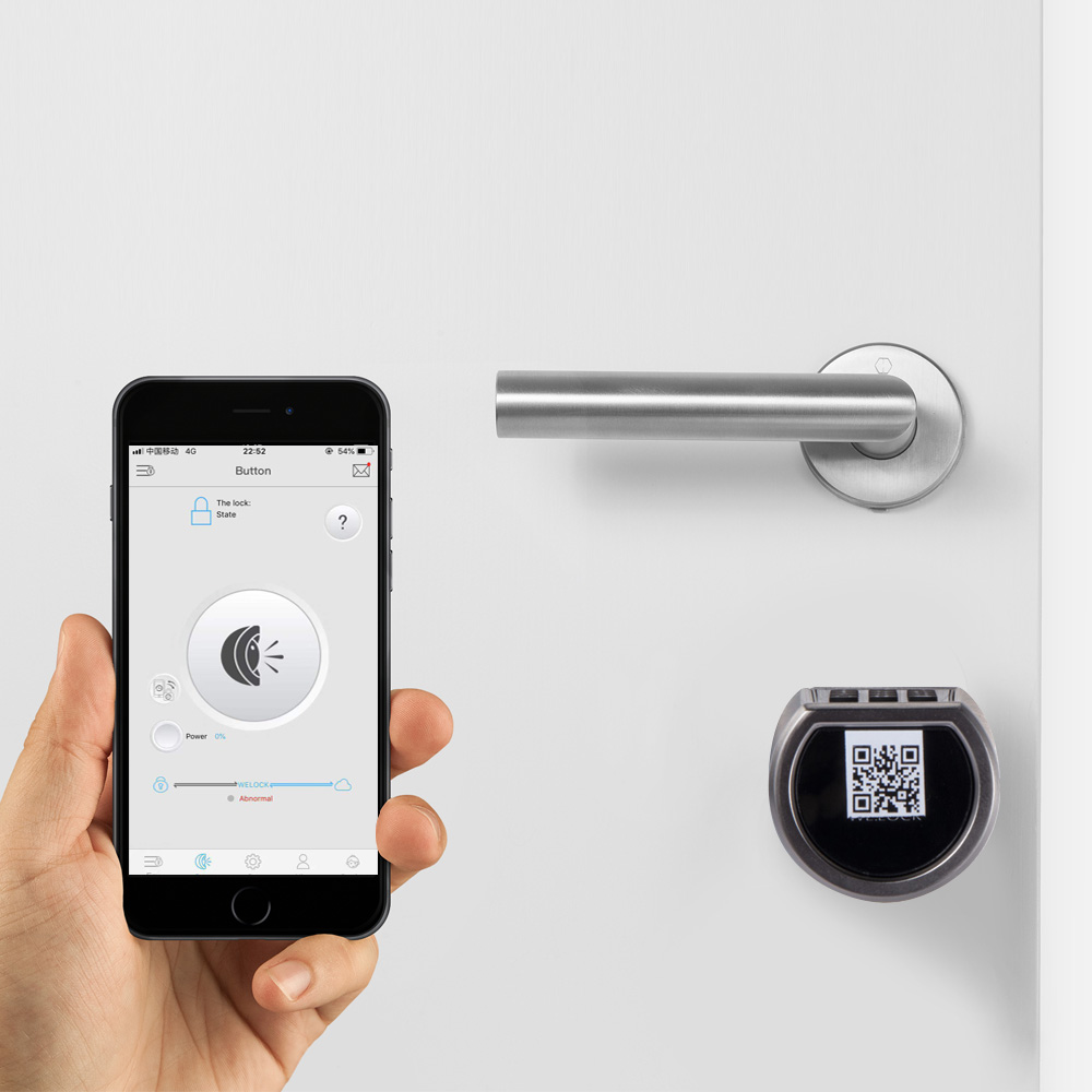 Intelligent Bluetooth Smart electronic cylinder lock with code card and bluetooth Mobile App controlled  electronics