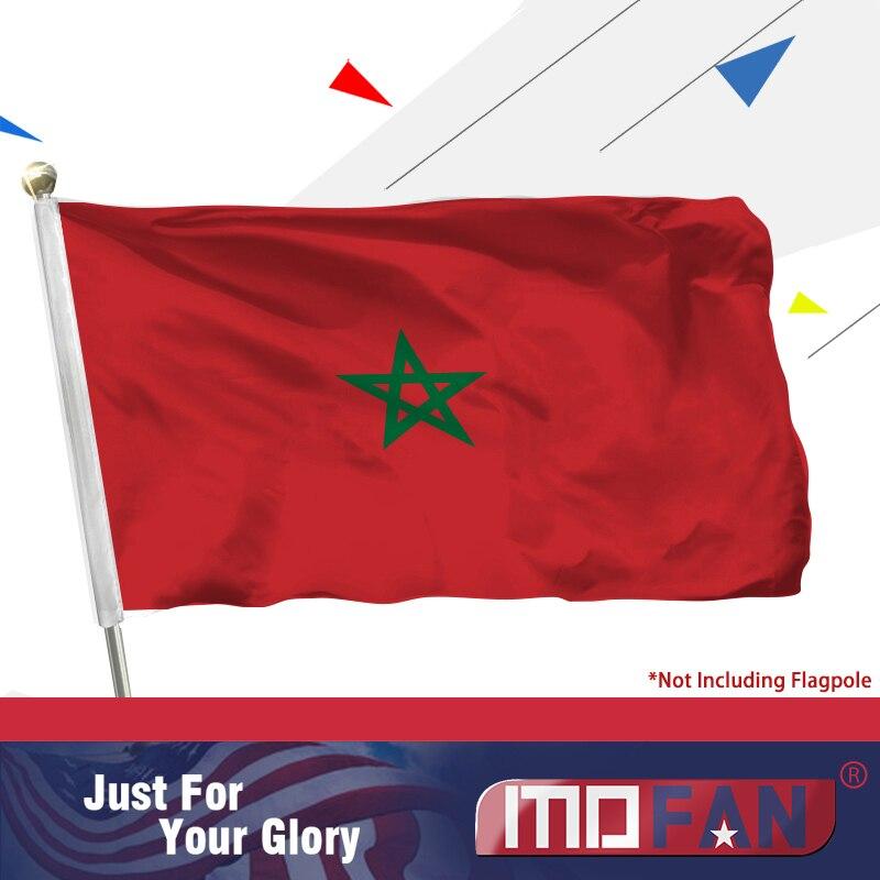 Vlajka MOFAN Maroko se 2 mosaznými průchodkami pro oslavu 3X5ft polyesteru