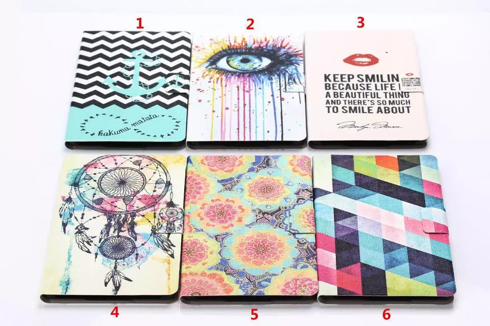 Case For Samsung Galaxy Tab S T700 T705 8 Inch PU Leather Tablet Smart Case Shell Folio Folding Painting Shell Cover