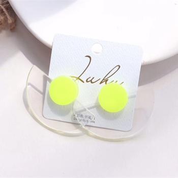 Women's Minimalist Style Transparent Geometric Earrings Earrings Jewelry Women Jewelry Metal Color: F 5x3.5 CM