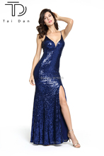 цена на 2019 Gorgeous Sequins Prom Dress Deep V-neck Sleeveless Stretch Sexy Prom Dress Long Shining Celebrity Evening Dress