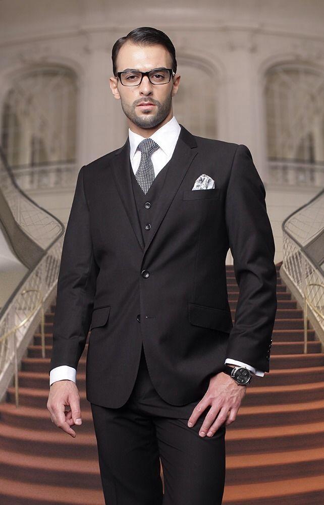 2016 SexeMara Trim Fit Black Men Wedding Suits Groom Tuxedos Smart ...