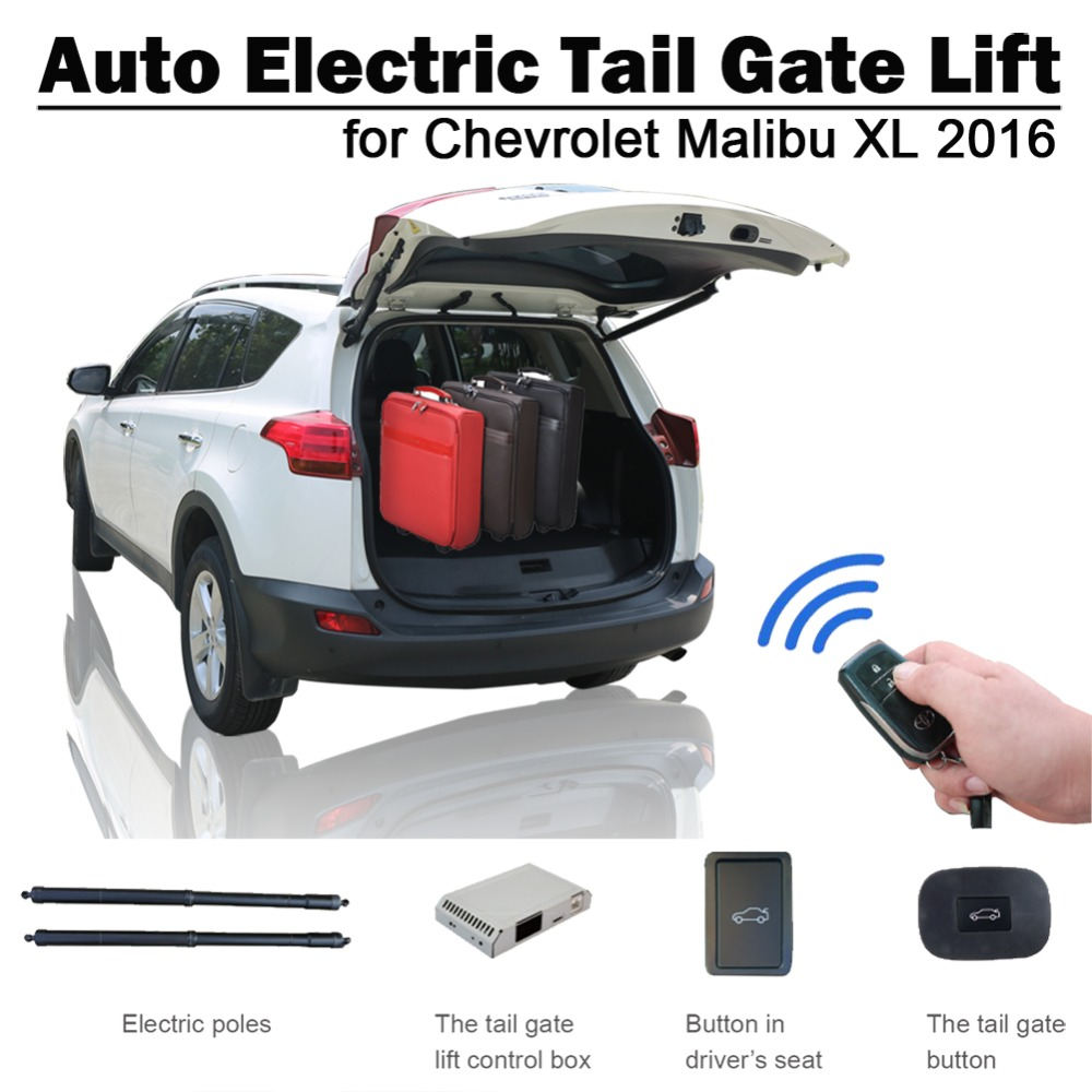 Smart Auto Electric Tail Gate Lift For Chevrolet Malibu XL 2016 Remote Control Drive Seat Button Control Set Height Avoid Pinch