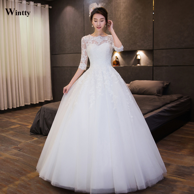 Lace Up Ball Gown High Quality Wedding Dresses 2018 Plus Size Bridal Alibaba Dress Vestido