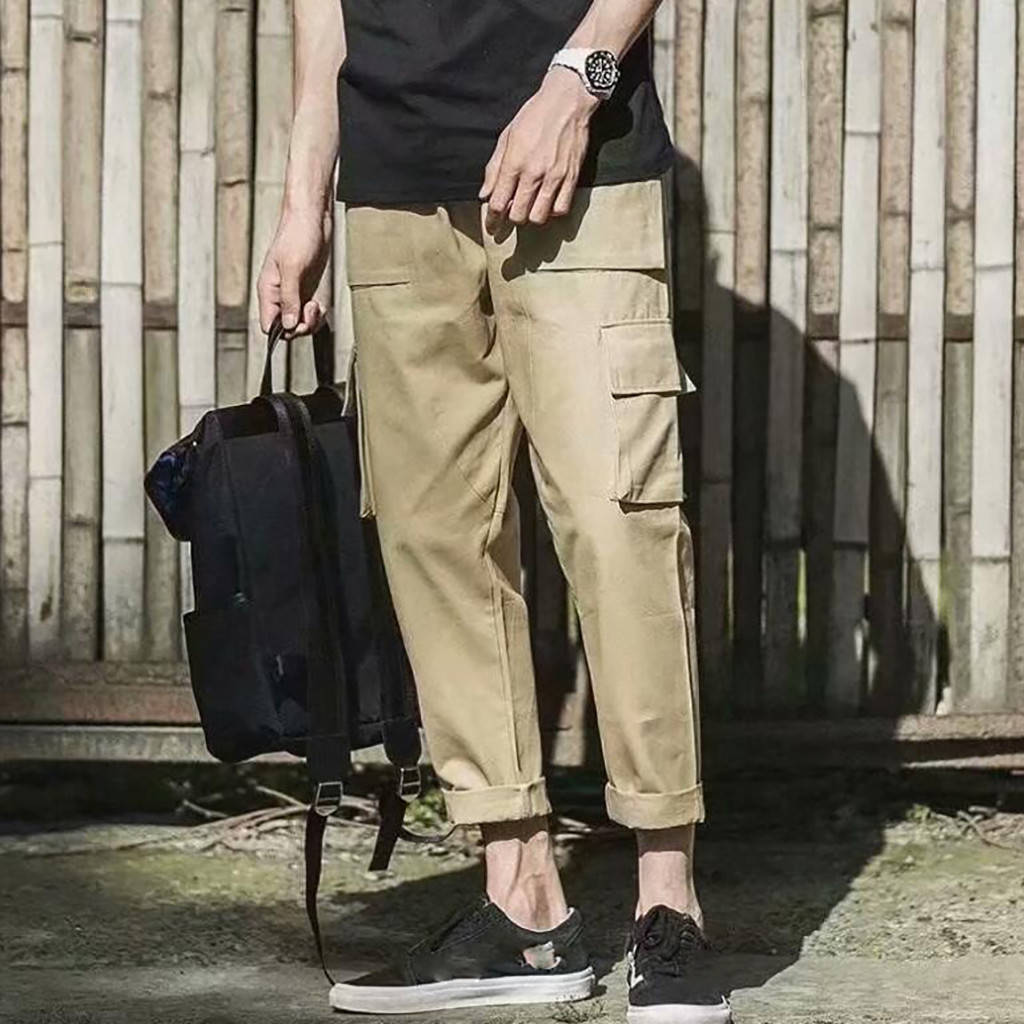 men pants casual Harajuku Pants cargo pants men New Fashion Overalls Casual Solid Comfortable Hip Hop Trousers T604