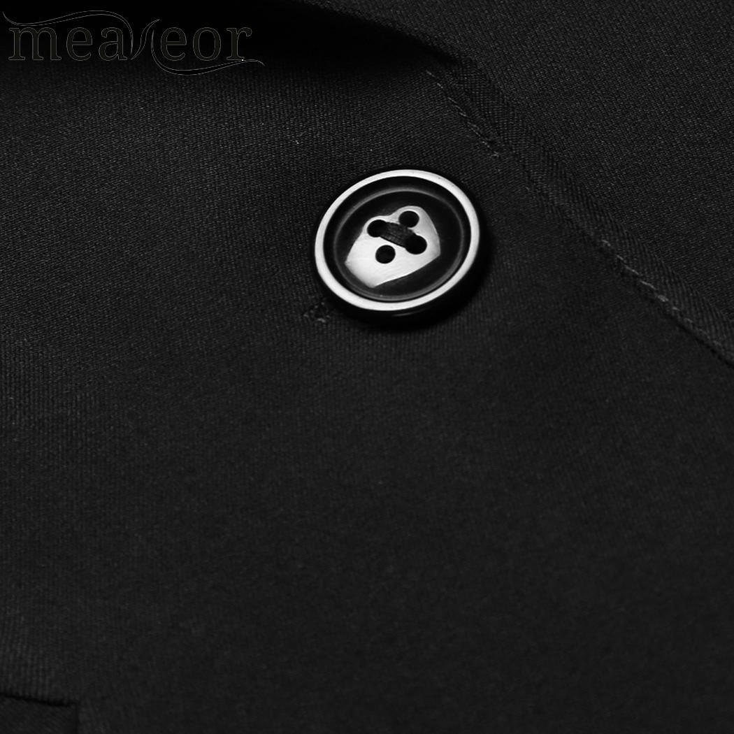 meaneor Breasted 3/4 Sleeve Blazer Lapel Cardigan Single Women Jacket Work Office Blazer