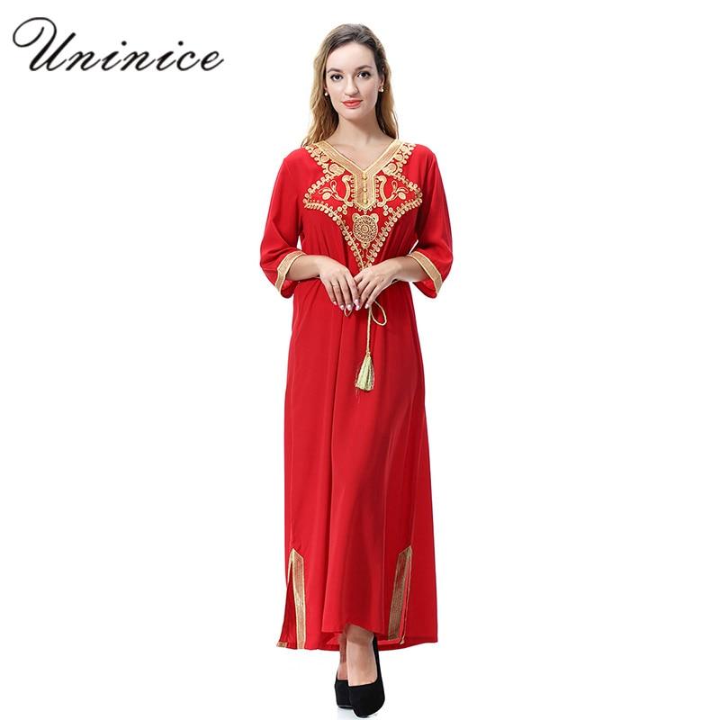 Elegant Muslim Abaya Maxi Dress Embroidery Long Robes Tunic Cardigan Kimono Arab Dubai Turkish Thobe Islamic Prayer Clothing-in Islamic Clothing from Novelty & Special Use on Aliexpress.com | Alibaba Group